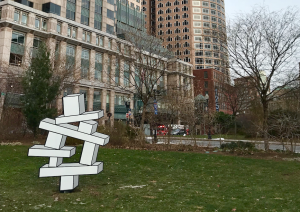 Aakash Nihalani sculptures parc Rose Kennedy Greenway Boston